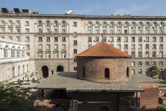 Exklusive Ansicht von Rundbau-Sveti Georgi St Gregory in Sofia, Bulgarien Lizenzfreie Stockfotografie