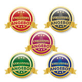Exklusives Angebot 5 Golden Buttons Stock Image