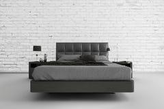 Exklusives Entwurfs-Schlafzimmer | Architektur des Innenraums 3d vektor abbildung