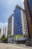 Exklusives Gebäude (Cláudio Tozzi Mural) - Brasilien Lizenzfreies Stockfoto