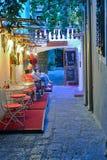 Exklusives Restaurant in Krk lizenzfreies stockbild