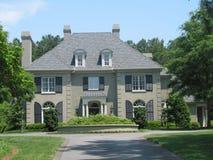 exklusivt amerikanskt hus Royaltyfri Fotografi