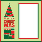 Exklusivt julhälsningkort med tomt utrymme Arkivbilder