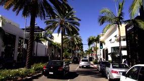 Exklusivt rodeodrev i Beverly Hills LOS ANGELES lager videofilmer