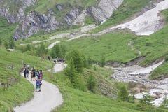Exkursion für Studenten, Koednitz-Tal, Österreich Lizenzfreie Stockbilder