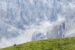 Exkursionen auf den Dolomit 2018 stockfotos