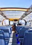 Exkursionsboot für die Besichtigung in Amsterdam Stockfotos