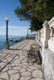 Exkursionspfad lungomare entlang der adriatischen Küste Stockfotos