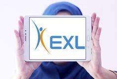 EXL经营业务公司商标 库存图片