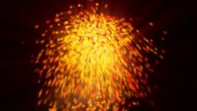Exlplosion rozjarzone pomarańczowe sfery z ruch plamą obrazy stock