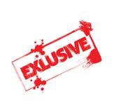 Exlusive stamp Stock Photo
