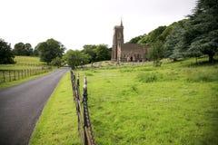Exmoor教会 库存照片
