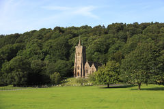Exmoor church, UK. St Etheldreda church, Exmoor, The parish church of St. Etheldreda (also known as St. Audries) is situated on the outskirts of the village of Royalty Free Stock Photography