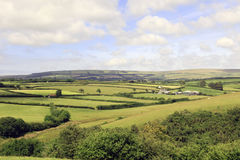 Exmoor Devon England. Farm fields on Exmoor Devon England stock photo