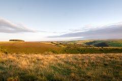 Exmoor evening, open wilderness. Autumn colours. UK. Stock Photos