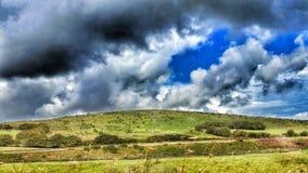 Exmoor via A383 Royaltyfri Foto
