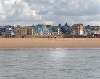 Exmouth, Ντέβον: παιχνίδι στην παραλία Σύννεφα στοκ φωτογραφίες με δικαίωμα ελεύθερης χρήσης