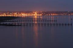 Exmouth bij Nacht stock afbeeldingen