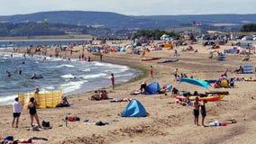 Exmouth in Devon England Juli 2018 lizenzfreies stockbild