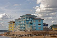 Exmouth, Devon : maisons modernes de devonshire photo libre de droits