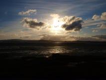 Exmouth solnedgång Arkivbilder