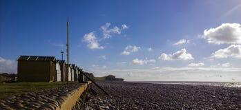 Exmouth strandhydda Fotografering för Bildbyråer