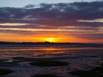 Exmouth sunset by the beach in devon Royalty Free Stock Photo