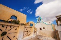 Exo Gonia village architecture on Santorini island Stock Images