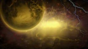 Exo-Solar Planet Painting Stock Photo