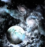 Exo-Solar Planet Painting Stock Images