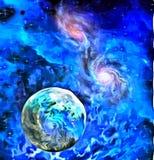 Exo-Solar Planet Painting Royalty Free Stock Photo