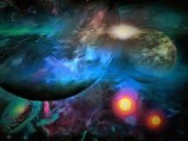 Exo-Solar Planet Painting Stock Photos