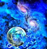 Exo-Solar Planet Painting Royalty Free Stock Image