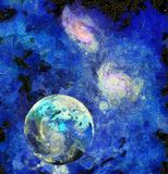 Exo-Solar Planet Painting Royalty Free Stock Photos