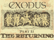 Exode illustration stock