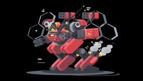 Exoesqueleto militar para el soldado ilustración del vector