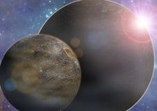 Exoplanet例证 库存照片