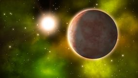 Exoplanet σε έναν μακρινό γαλαξία Loopable απεικόνιση αποθεμάτων