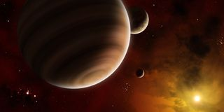 Exoplanet Royalty Free Stock Photography