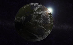 Exoplanet. Alien world, exoplanet in the milky way Stock Photo
