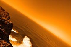 Exoplanet con el océano extenso Fotografía de archivo