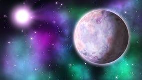 Exoplanet de giro laço video estoque