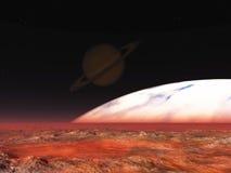 Exoplanet eksploracja ilustracja wektor