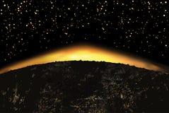 Exoplanet of extrasolar planeet Vector illustratie Royalty-vrije Stock Fotografie