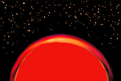Exoplanet or extrasolar planet. Vector illustration. Universe filled with stars Stock Image