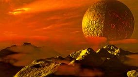 Exoplanet fantastic landscape Royalty Free Stock Images