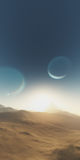 Exoplanet fantastic landscape Stock Photos