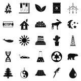 Exoplanet icons set, simple style. Exoplanet icons set. Simple set of 25 exoplanet vector icons for web isolated on white background Royalty Free Stock Photography
