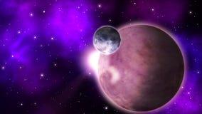 Exoplanet nello spazio profondo ciclo royalty illustrazione gratis