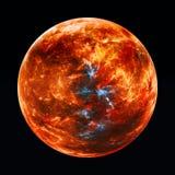Exoplanet rojo ardiente libre illustration
